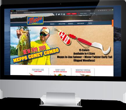 Mepps online store screenshot