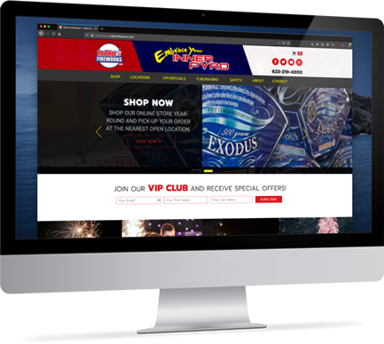 Redhot fireworks online store screenshot